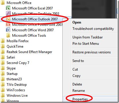 how to remove search box in outlook 2010