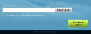 Facebookvideodown.com website to download facebook videos