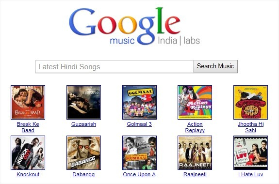 Listen To Bollywood Movie Songs Online on Google Music