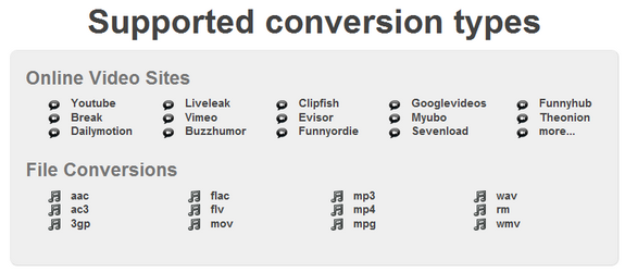 Supported-formats by ConvertVideoToAudio