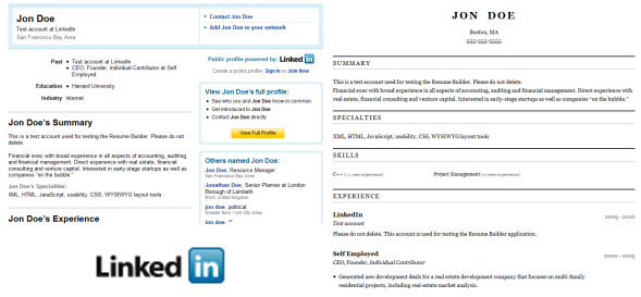 how to convert your linkedin profile to a resume online easily .