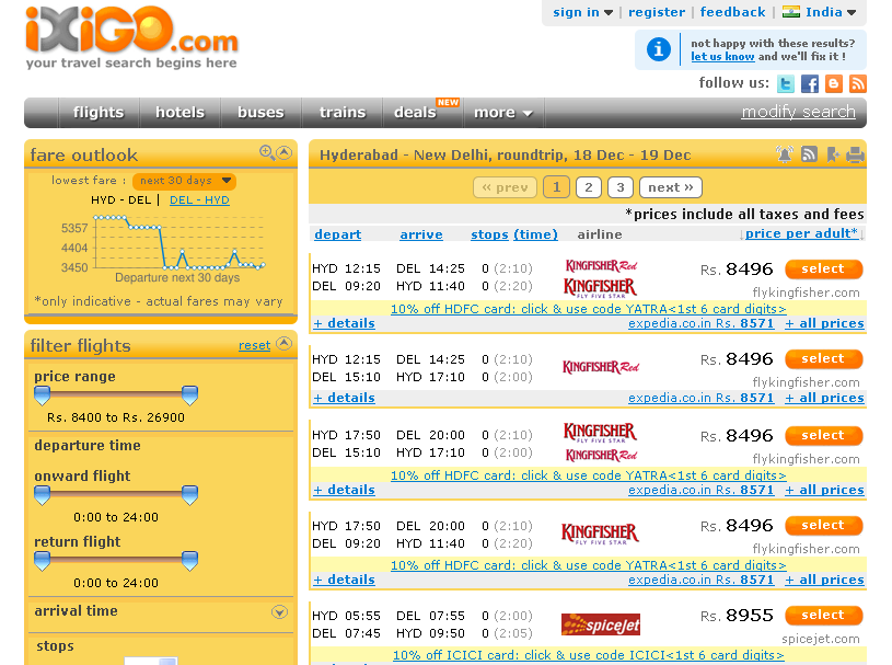 book airline tickets india