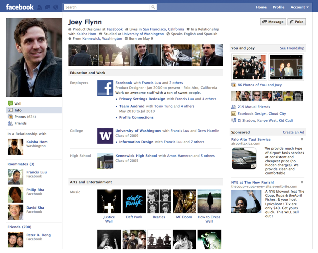 Enable New Facebook Profile